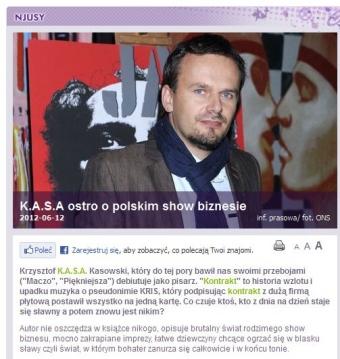 KASA - ostro o polskim szołbiznesie